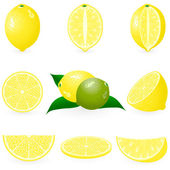 Icon Set Lemon — Stock Vector
