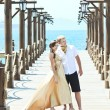 Couple on pier — Stock Photo #5442707