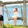 Tropical wedding — Stock Photo