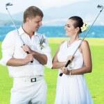 Свадьба гольф — Стоковое фото