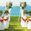 Stock Photo: Tropical wedding