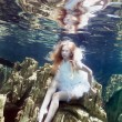 Royalty-Free Stock Photo: Underwater fairy tail