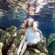 Underwater fairy tail — Stock Photo