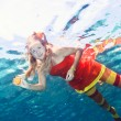 Woman underwater — Stock Photo #5744687