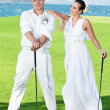 Royalty-Free Stock Photo: Wedding golf