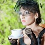 mujer retro — Foto de Stock