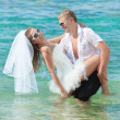 Stock Photo: Beach wedding