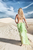Desert woman — Stock Photo