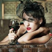 ретро женщина — Стоковое фото