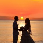 Soluppgång bröllop — Stockfoto