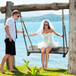 Tropical wedding - Stockfoto