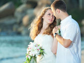 Tropische bruiloft — Stockfoto