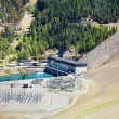 Stock Photo: Lake Benmore hydroelectric dam, New Zealand