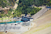 Lake Benmore hydroelectric dam, New Zealand — Stock Photo