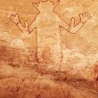 Rock paintings of Tassili N'Ajjer, Algeria - Stock Photo