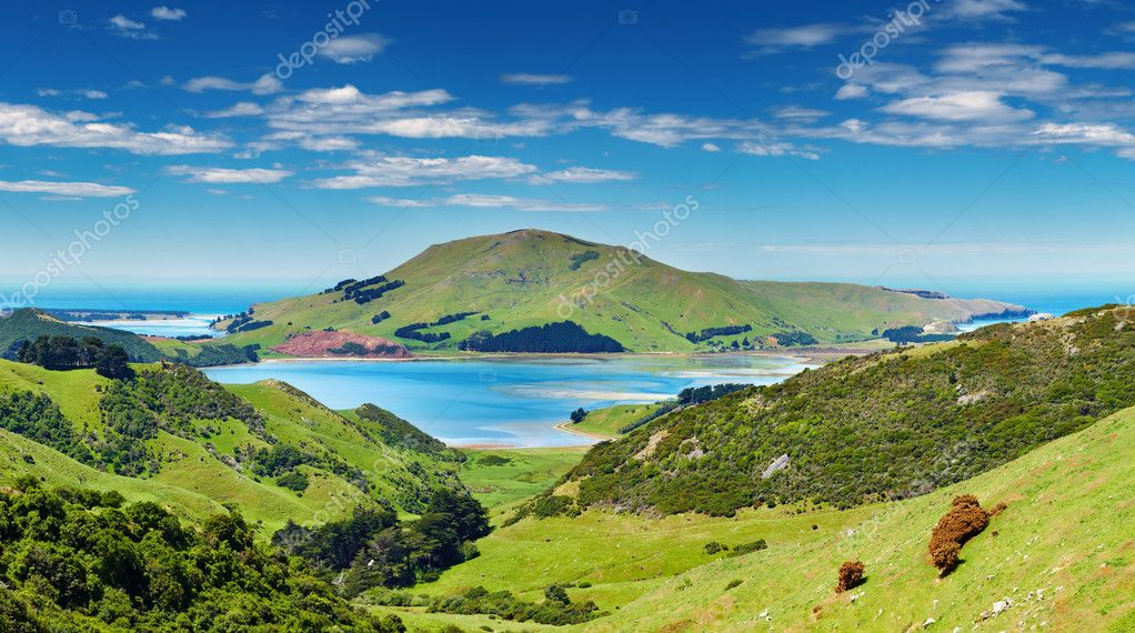 Coastal view, Pacific coast of New Zealand, Otago Peninsula — Stock Photo #6070686