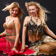 Belly dancers. — Stock Photo