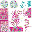 Set of colorful design elements of mosaic — Stock Vector #5896679