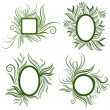 Vector set of leafs frames — Stock Vector #5897566