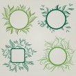 Vector set of leafs frames — Stock Vector