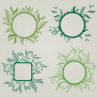 Vector set of leafs frames — Stock Vector #5897578