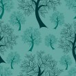 Vector seamless pattern from trees  — Stok Vektör