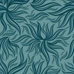 シームレスな緑の花柄を葉します。 — ストックベクタ