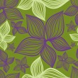 Vector Seamless floral pattern with lilly flower — Vettoriali Stock