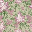 Vector Seamless floral pattern with lilly flower — Image vectorielle