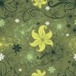 Vector Seamless floral pattern with lilly flower — Stockvectorbeeld