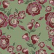 Vector Seamless vintage flower rose pattern — Imagen vectorial
