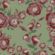 Vector Seamless vintage flower rose pattern — Stockvektor