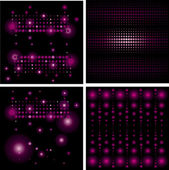 Set of Disco-ball patterns — Stock Vector