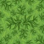 bezešvé zelený květinový vzor s listovým — Stock vektor
