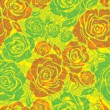Vector Seamless floral pattern with rose flower  — Stok Vektör