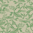 Seamless green floral pattern with leafs — Stock Vector #5902344