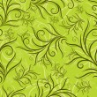 Seamless green floral pattern with leafs  — Image vectorielle