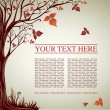 Design with decorative tree from colorful autumn leafs — Stock vektor