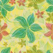 蘭の花を持つベクトル シームレスな花柄 — ストックベクタ
