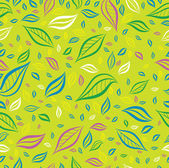 Seamless yellow colorful floral pattern with leafs — Stock Vector