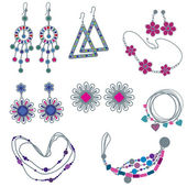 Vector set of fashion jewelry — Stock Vector