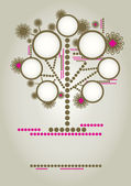 Vector family tree design with frames — Stock Vector