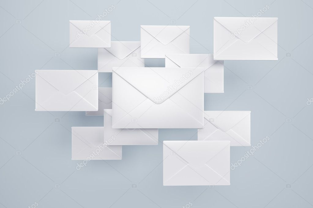 Cloud of letters, 3d render — Stock Photo #5918665