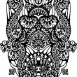 Black and white symmetric  pattern — 图库矢量图片