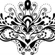 Stok Vektör: Black and white tattoo pattern