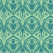 图库矢量图片: Seamless green pattern in vector