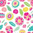 Seamless floral background — Stock vektor