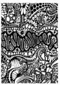 Dekoratif çiçek plan vektör — Stok Vektör