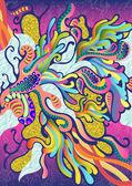 цветные абстрактные векторные шаблон — Cтоковый вектор