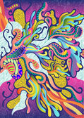 Padrão de vetor abstrato colourfull — Vetorial Stock